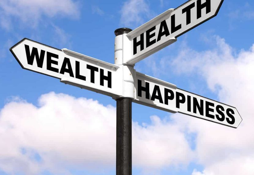 Health Wealth Happiness Signpost